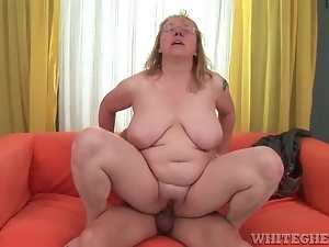 Bbw, Dick, Glasses, Hardcore, Mature, Moaning, Riding