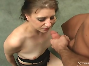 Banging, Blowjob, Face fucked, Small tits, Throat