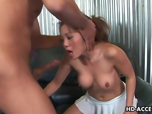 Asian, Big tits, Dick, Face fucked, Throat