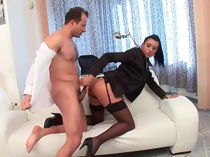 Chick, Dick, Grinding, Hardcore, Satin, Stockings