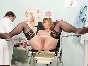Bizarre, Doctor, Fetish, Redheads, Sex toys, Speculum, Stockings