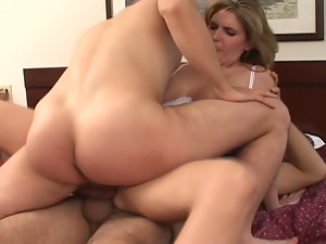3some, Anal, Ass fucking, Babes, Big butt, Big cock, Big tits, Brunettes, Busty, Cowgirl, Cum in mouth, Cumshots, Double penetration, Fake tits, Gorgeous, Hardcore, Milf, Missionary, Mmf, Mom, Threesome