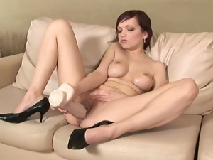 Amateur, Brunettes, Dildo, European, Huge dildo, Huge toy, Masturbating, Nude, Pussy, Russian, Sex toys, Solo, Tease, Teens, Tight pussy