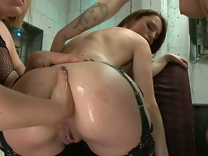 3some, Anal, Anal fisting, Ass licking, Dildo, Fisting, Hd, Huge toy, Lesbian, Sex toys, Threesome