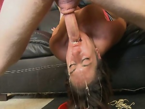 Amateur, Blowjob, Brunettes, Casting, Deepthroat, Face fucked, Gagging