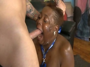 African, Bbw, Big natural tits, Big tits, Busty, Chubby, Chunky, Deepthroat, Ebony, Face fucked, Fat, Gagging, Huge tits, Interracial, Plumper