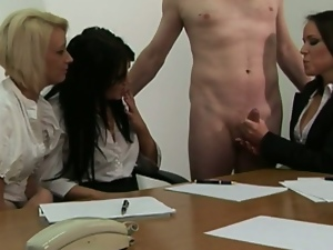 4some, Czech, European, Femdom, Group sex, Handjob, Hd, Jerking, Tugjob