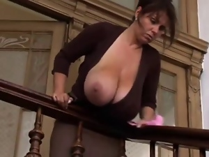 Big tits, Cleaner, Mature, Milf, Nipples