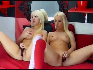 Blondes, Lesbian, Twins, Webcam