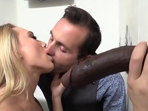 Babes, Bisexual, Black, Cuckold, Cum, Husband, Interracial, Milf, Mouthful, Spit, White, Wife