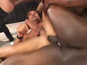 Barebacking, Big cock, Breeding, Gay, Interracial