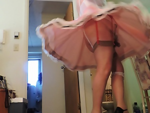 Amateur, Crossdressing, Dress, Gay, Pink, Sissy