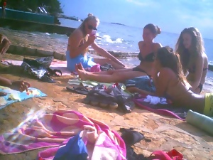 Beach, Flashing, Teens, Voyeur