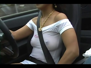 Amateur, Car, Dress, Sexy, Tits