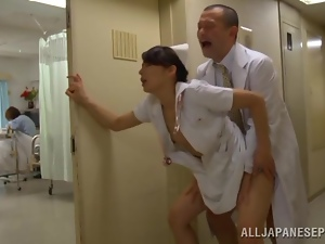 Asian, Clothed sex, Cougar, Couple, Doctor, Doggystyle, Fucking, Hardcore, Horny, Hospital, Japanese, Milf, Nurse, Public, Reality, Uniform