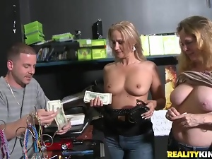 Desk, Fucking, Gorgeous, Hardcore, Money, Natural boobs, Reality