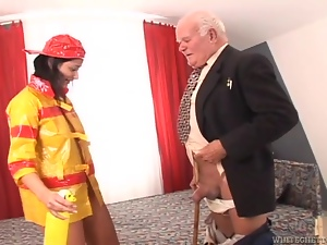 Babes, Brunettes, Chick, Couple, Fucking, Hardcore, Old, Old and young, Reality, Uniform