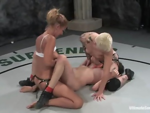 Busty, Catfight, Fighting, Lesbian, Sex toys, Sport, Strapon