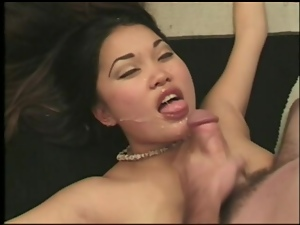 Asian, Brunettes, Couple, Cum in mouth, Cumshots, Fucking, Hardcore, Pregnant, Swallow