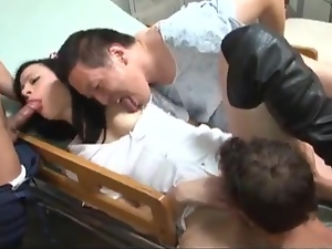 Blowjob, Brunettes, Gangbang, Hardcore, Horny, Licking, Lingerie, Natural boobs, Nurse, Pornstars, Sexy