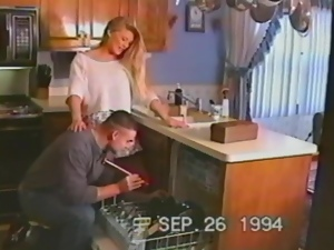 Blondes, Couple, Fucking, Hardcore, Horny, Housewife, Kitchen, Reality, Retro, Vintage, Wife