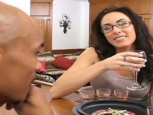 Brunettes, Couple, Drinking, Drunk, Glasses, Hardcore, Interracial, Reality, Wine