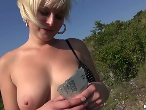 Big tits, Blondes, Bra, Cash, Country, Fucking, Money, Outdoor, Reality