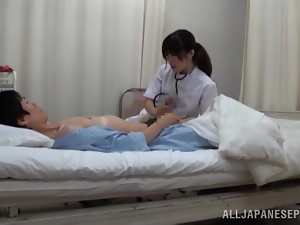 Amateur, Asian, Brunettes, Couple, Handjob, Hardcore, Japanese, Nurse, Slim, Uniform
