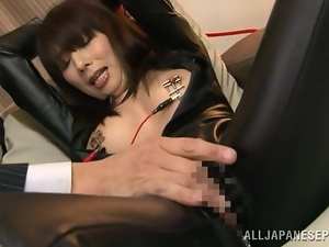 Asian, Bdsm, Brunettes, Couple, Fetish, Fingering, Hardcore, Japanese, Leather, Milf