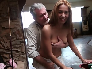 Babes, Big tits, Couple, Fucking, Hardcore, Natural boobs, Old, Old and young, Slim
