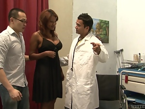 Doctor, Ebony, Fucking, Hardcore, Husband, Interracial, Mmf, Reality, Redheads, Threesome, Uniform