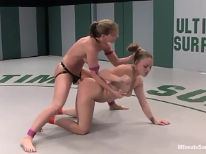 Catfight, Rough, Sport, Strapon