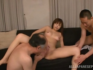 Amateur, Asian, Fucking, Hardcore, Japanese, Licking, Mmf, Natural boobs, Old and young, Sexy, Threesome