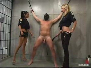 Bdsm, Femdom, Humiliation, Prison, Security guard, Slave, Smoking, Torture