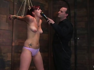 Babes, Bondage, Casting, Couple, Hardcore, Natural boobs, Pain, Panties, Reality, Redheads, Tattoo, Vibrator