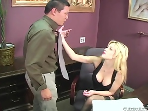 Blondes, Fucking, Hardcore, Long hair, Office, Reality, Stockings, Tanned