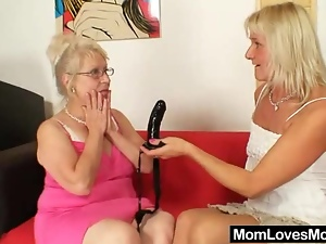 Bdsm, Blondes, Glasses, Granny, Lesbian, Mature, Mature lesbian, Reality, Sex toys, Strapon, Wife
