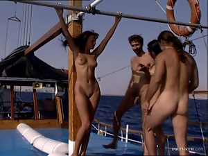 4some, Brunettes, Chick, Group sex, Hardcore, Outdoor, Pounded, Swingers, Yacht