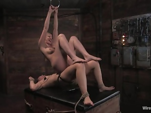 Basement, Bdsm, Bondage, Femdom, Poor girl, Slave, Tied up, Torture