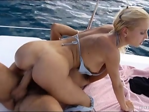 Amazing, Babes, Blondes, Couple, Cowgirl, Hardcore, Outdoor, Yacht