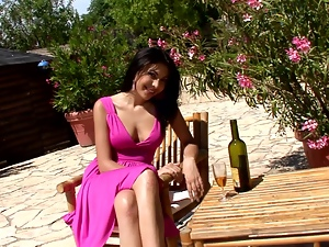 Babes, Beautiful, Bottle, Brunettes, Drunk, Long hair, Outdoor, Reality, Wine
