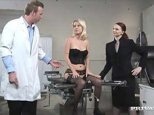 Blondes, Brunettes, Ffm, Fucking, Gyno exam, Hardcore, Lingerie, Reality, Sexy, Stockings, Threesome