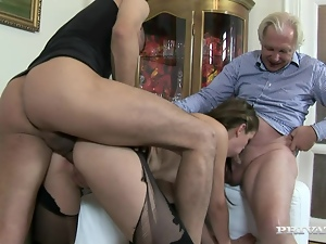 Anal, Babes, Blowjob, Boyfriend, Dad girl, Doggystyle, Hardcore, Mmf, Old and young, Threesome