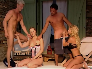Blondes, Boyfriend, Group sex, Handjob, Hardcore, Party, Swingers