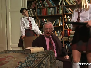 Babes, College, Ffm, Fucking, Hardcore, Miniskirt, Old, Old and young, Reality, Schoolgirl uniform, Teens, Threesome, Uniform