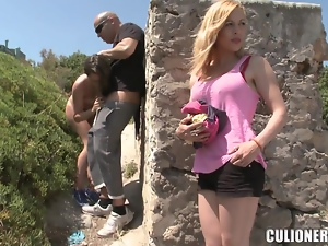 Babes, Blowjob, Couple, Face fucked, Fingering, Friend, Fucking, Hardcore, Outdoor, Public, Reality, Shorts