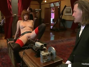 Bdsm, Machine sex, Public, Tied up