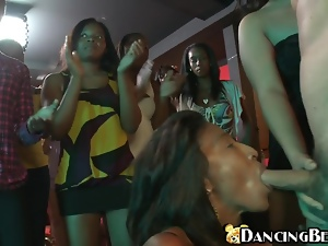 Blowjob, Cfnm, Chick, Dick, Ebony, Hardcore, Huge, Party, Smoking