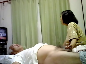Couple, Handjob, Hidden cam, Japanese, Mature, Voyeur
