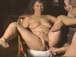 Amateur, Husband, Masturbating, Milf, Nipples, Pussy, Sex toys, Swollen pussy, Wife